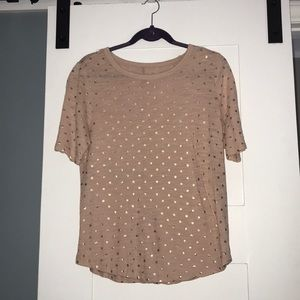Heather rose gold t shirt. Banana republic